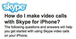 У Skype на iPhone 4 и iPod touch 4 появятся видео звонки
