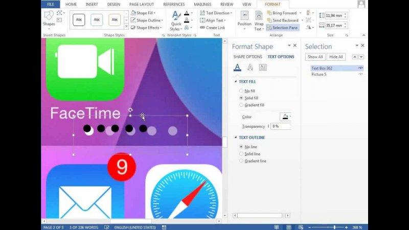 Youtube video - Урок работы в Microsoft Word, учимся делать иконки - юмор, youtube, ios7, ms word