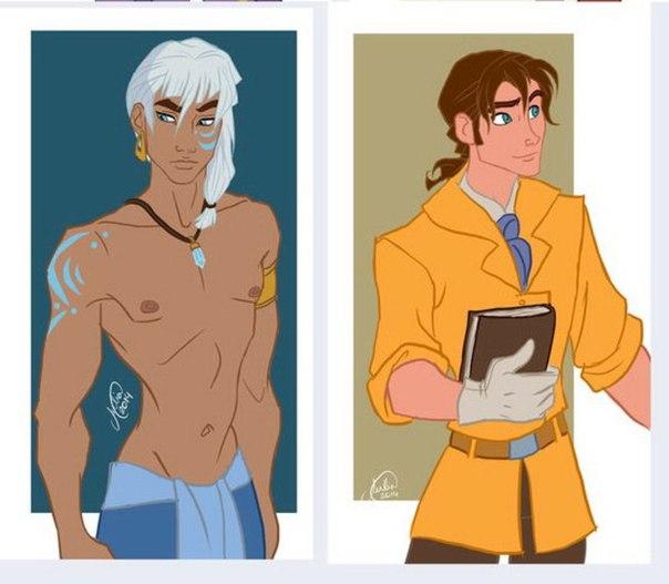 Если бы персонажи мультфильмов Дисней были другого пола:)